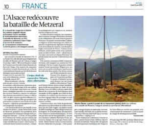 Article du quotidien La Croix sur Metzeral