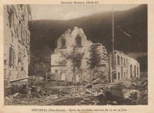 Metzeral après les combats de juin 1915