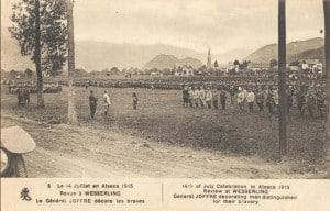 Charles Elisée Barberot - Défilé devant le général Joffre - 1915 - 1