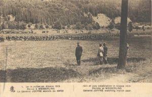 Charles Elisée Barberot - Défilé devant le général Joffre - 1915