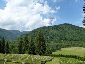 Cote 830 vue de la nécropole du Chêne Millet