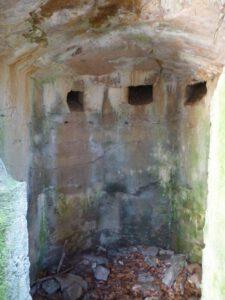 Intérieur d'un bunker de l'Ormon