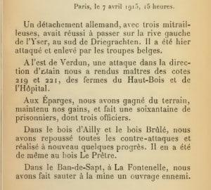 communique 7avril 1915